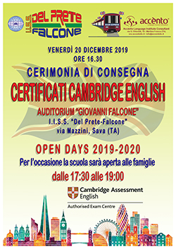 locandina Certificati Cambridge